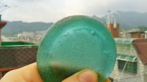 """""""Dish"""" found on Muchangpo Beach, Muchangpo, Korea"""