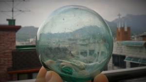 """""""Bubble in a Bubble"""" found on Sokcho Beach, Sokcho, Korea"""